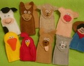 SAM Finger Puppets - Deluxe Old McDonald and Farm Animal Set