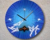 airbrushed LP - blue lightning