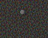 Mini Paw Prints I Spy Cat Dog Fabric Multi or White on Black By the Fat Quarter BTFQ