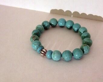 Azure   -   Turquoise Howlite Bracelet     -   Handcrafted