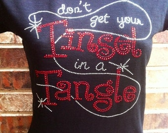 Christmas Tinsel in a Tangle Rhinestone Heat Transfer DIY
