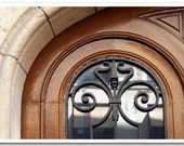 "Paris Photography - ""Arched Doorway with Wrought Iron"" - 5x7 Fine Art Photo by Lesley Sico"