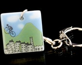 Pennine Cyclist key ring - Tour de Yorkshire / Tour de France