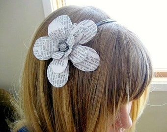 Read All About It Daisy Paper Mache Headband