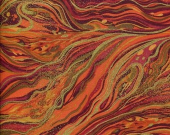 Palazzo Harvest Marbled Metallic - Timeless Treasures - 1 Yard Plus