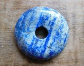 SALE Large All Natural Genuine Lapis Lazuli Donut 48mm Pi stones Healing Reiki Nursing necklace bead only