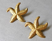Gold Star Fish Earrings