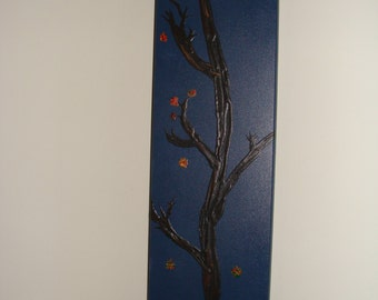 THE TIMBERS Fall tree acrylic painting on wood with hanger