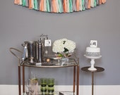 Art Deco Tassel Garland: Creamsicle