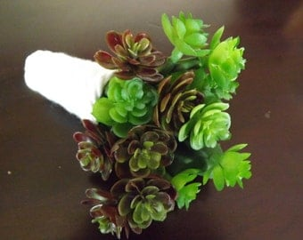SALE! Succulent boutonniere, ready to ship!