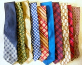 HUGE Lot of 26 Men's Neckties from Various Decades - Designer Names, Silk and Polyester Ties,