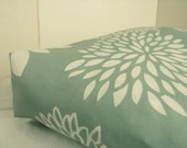 DOG BED COVER Indoor/Outdoor Deep Sea Green and White  18.5 x 25.5
