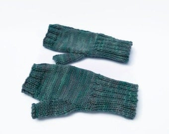 Fingerless Mittens hand knitted  fingerless gloves wrist warmers uk seller