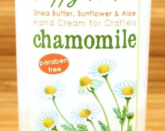 Chamomile Scented Hand Cream for Knitters - 4oz Medium HAPPY HANDS Shea Butter Hand Lotion