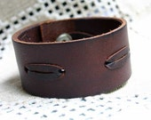 Natural Leather Bracelet Vintage Laced, Brown Leather Women Leather Bracelet, Men Leather Cuff Bracelet ,Unisex Bracelet