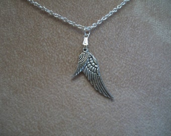 Bird Wings, Angel Wings, Mother & Child, Silver Necklace, by Brendas Beading on Etsy