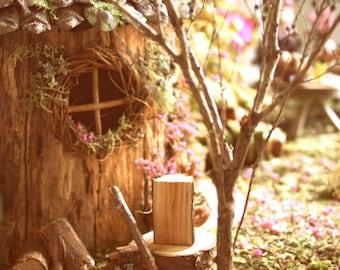 Fairy House Woodcut Scene Postcard x 5