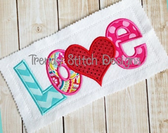 LOVE Applique Machine Embroidery Design INSTANT DOWNLOAD
