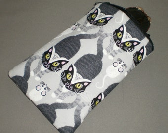 Cat and Mouse Eyeglass or Sunglasses Case - Padded Zippered Pouch