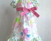 Ready to ship Teacup Pastel colors Peasant dress size 4T Retired style