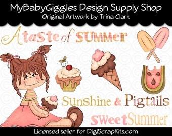 A Taste of Summer Clip Art Digital Graphics Scrapbook Supply INSTANT DOWNLOAD