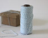 Pale Baby Blue & White Bakers Twine - 10 metres - Perfect for Gift Wrapping or Crafts
