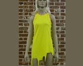 electric yellow mini dress