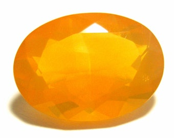 Fire Opal Gem Stone Loose Gemstone Precious Mexican Solid Jelly Opal Large Perfect for an Engagement Ring