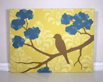 Bird Painting, Prairie Chic Home Decor