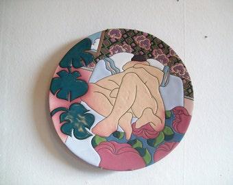 "Judy Miller's Bedroom Scene # 1 Lovemaking - 14"" Charger / 14"" Plate"