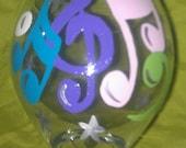 2 Music Note Wine Glass