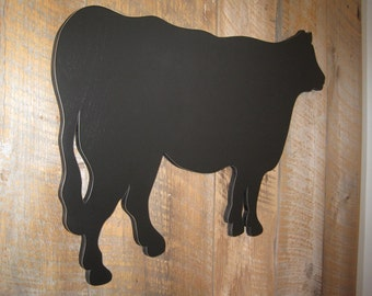 "Large Indoor 32"" Chalkboard Cow - Wall Art"