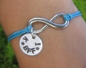 Best Friends Infinity Bracelet - Your choice of two Initials and cord - Buy 1 get 1 Free today
