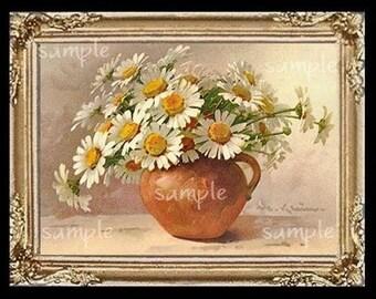 Floral Flowers Miniature Dollhouse Art Picture 1158