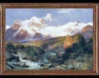Mountains Miniature Dollhouse Art Picture 1384