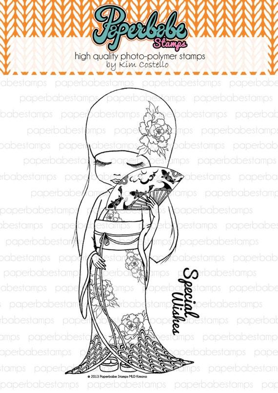 MayLeeDee Kimono avec sentiment - Paperbabe Stamps - claire photopolymère timbres - pour papier d'artisanat et de scrapbooking.