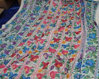 Reduced Price - Gorgeous antique handstitched bedspread