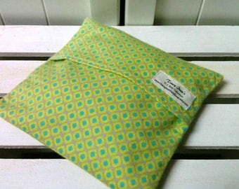 Kids Boo Boo packs/ Hot and Cold packs/ microwave or freezer packs in Green Diamond