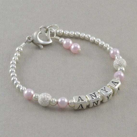 Baby Gifts Jewellers : Baby girl gift name bracelet sterling by