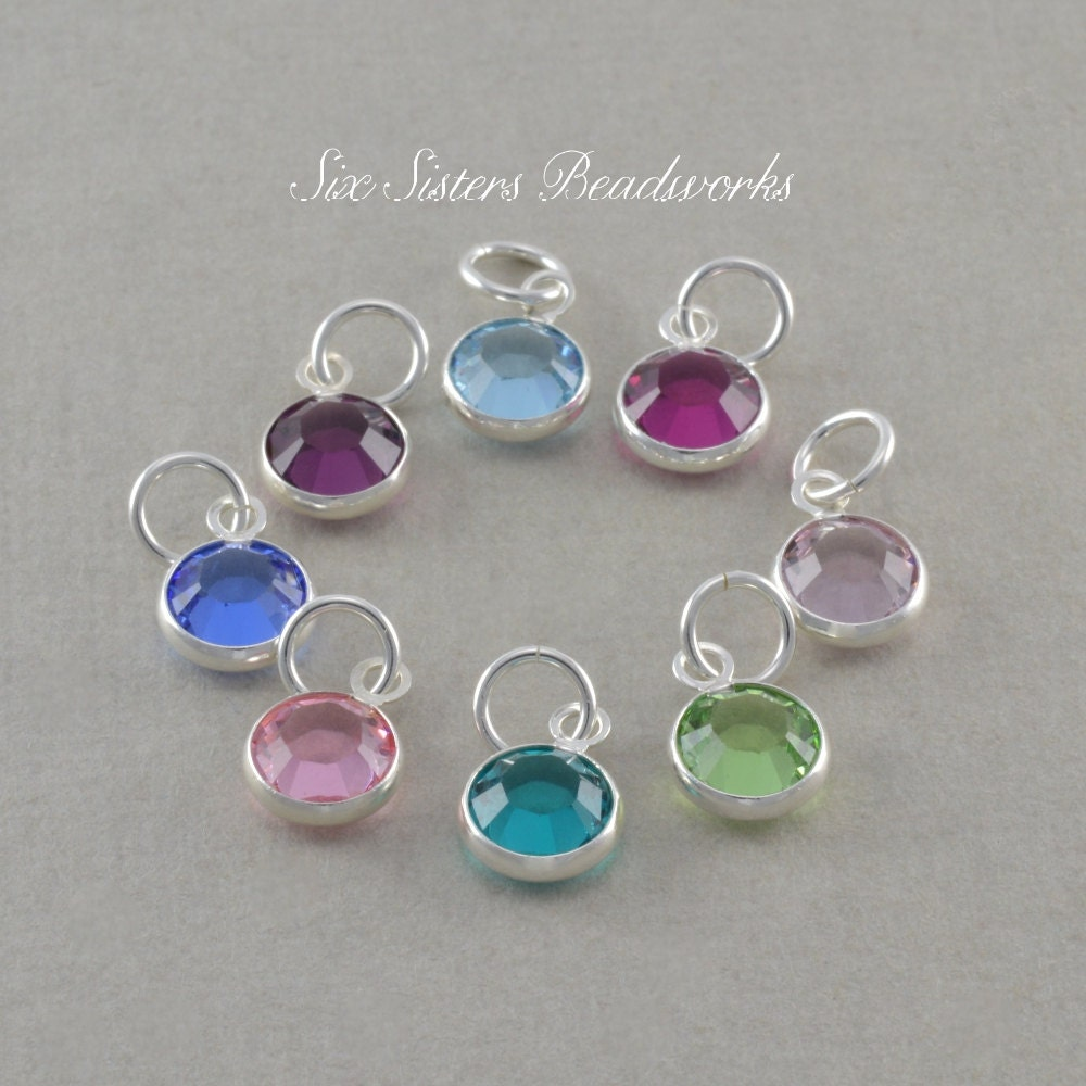 Add A Birthstone Charm Necklace Sterling Silver Chain