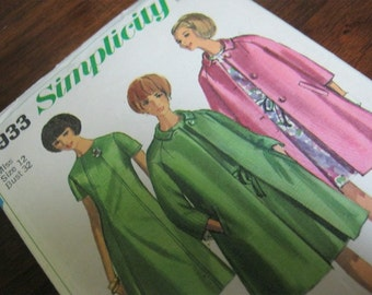 Vintage 1960's Dress and Coat Pattern