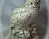 1978 Large Ceramic Owl Figurine.