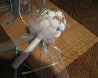 Seashell Bouquet -Mother of the Bride & Mother of the Groom!  Pozy size~