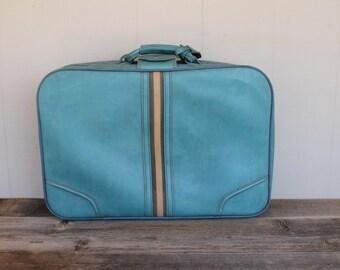 Vintage Turquoise Suitcase