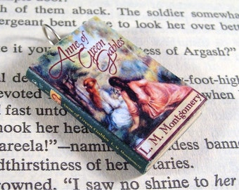 Miniature Classic Novels Book Necklace Charm Anne of Green Gables