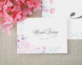 Spring Bouquets Wedding Tented Place Cards (Set of 10)
