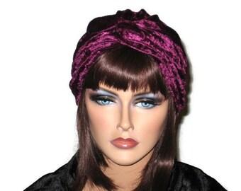 Burgundy Turban, Purple Turban, Velour Turban, Women's Turban,Handmade, Fashion Turban, Twist Turban, Turban Hat, Purple Turbin, Fashionable