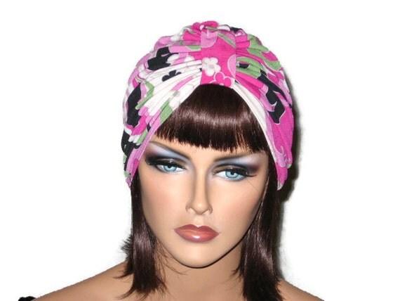 Pink Turban, Women's Handmade Fashion, Single Knot, Abstract