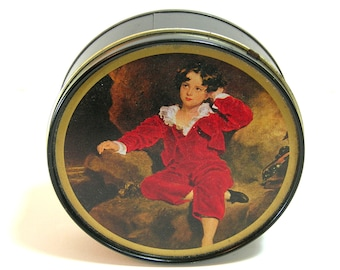 Vintage Tin With Embroidery Floss