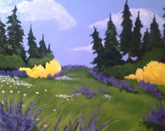 Original landscape painting Lupines in May #4